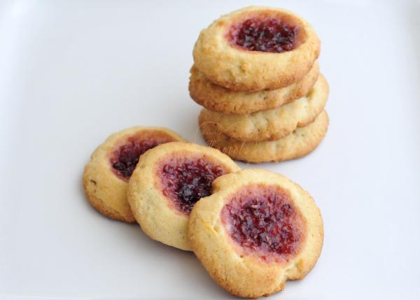 Raspberry Lemon Thumbprint Cookies