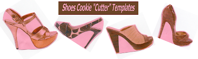 """Shoe Cookie """"Cutter"""" Templates"""