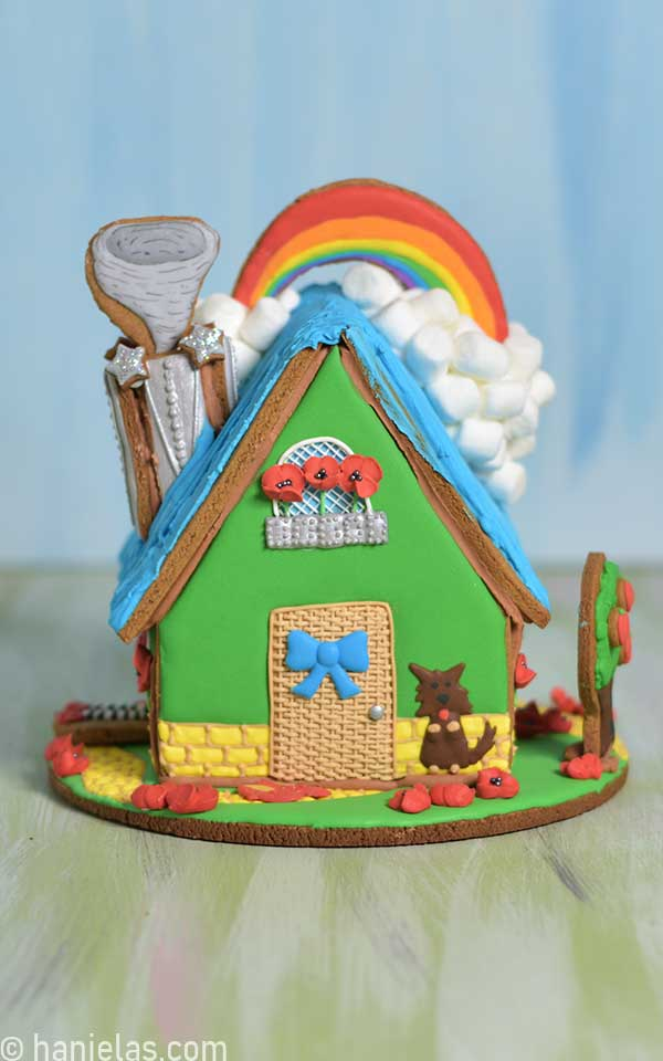 Decorated Wizard of Oz Gingerbread House.