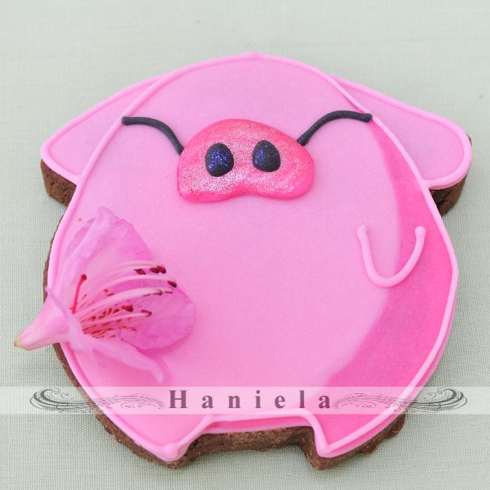 Pig Cookies Haniela S Recipes Cookie Cake Decorating Tutorials