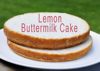 Lemon Buttermilk Cake|Cupcakes
