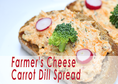 Farmer's Cheese Carrot Dill Spread