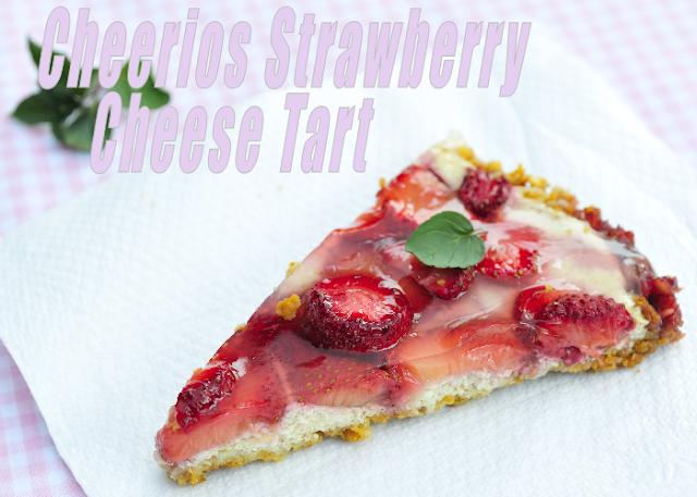 Cheerios Strawberry Cheese Tart