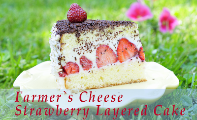 Farmer's Cheese Strawberry Layered Cake