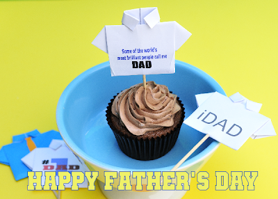 Father's Day T-shirt Cupcakes