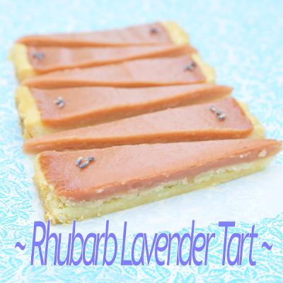 Rhubarb Lavender Tart