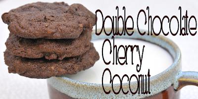Double Chocolate Cherry Coconut Cookies