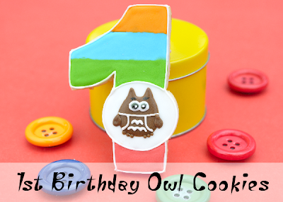 1st Birthday Owl Cookies
