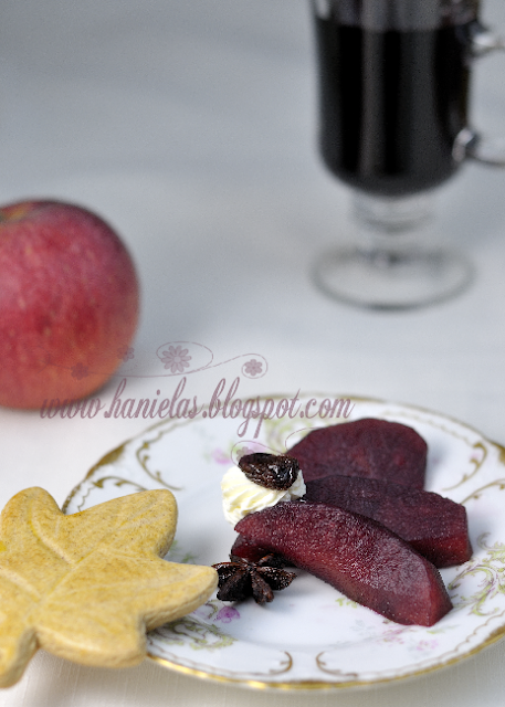 Red Wine Poached Apples