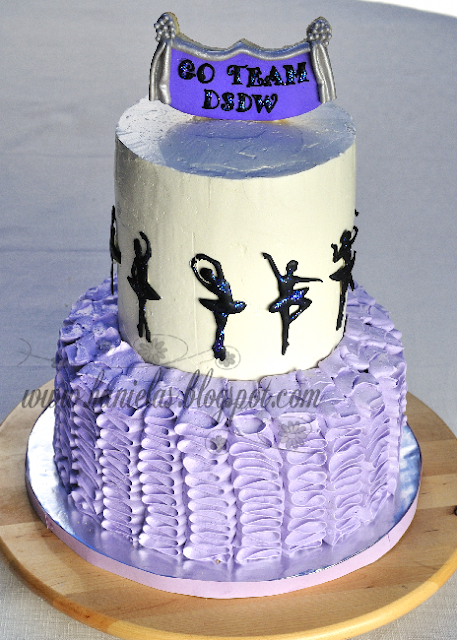 Ballerina Ruffle Cake