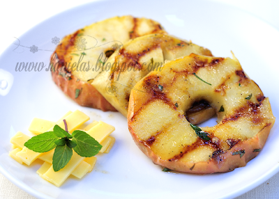 Marinated Minty Grilled Apples