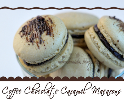 ~Coffee  Chocolate Caramel Macarons~