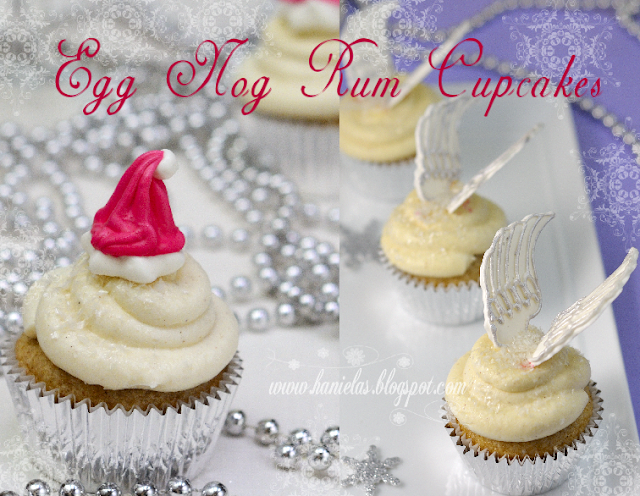 Egg Nog Rum Cupcakes