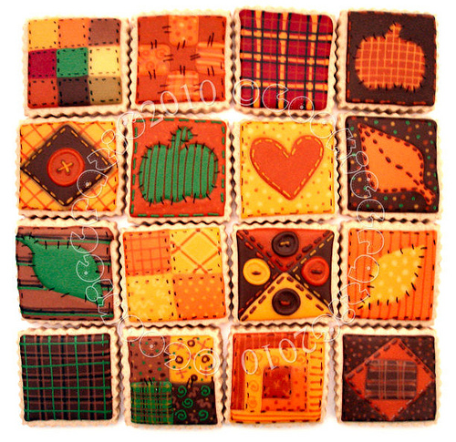 An Autumn Quilt of Cookies :)