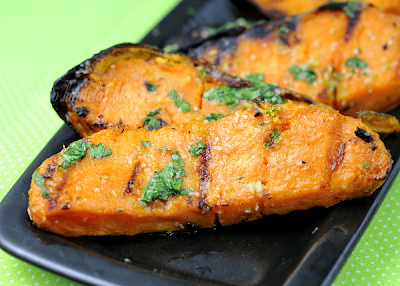 Lime Ginger Grilled Sweet Potatoes