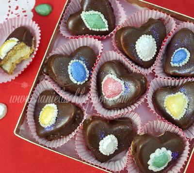 Walnut  Chocolate Sandwich Heart Cookie Jewels