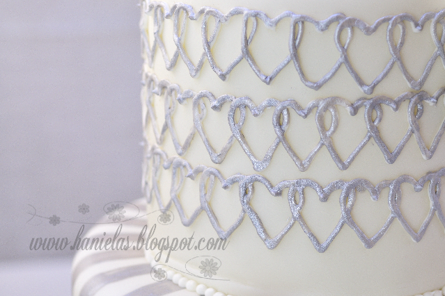 Silver and White Engagement Desserts