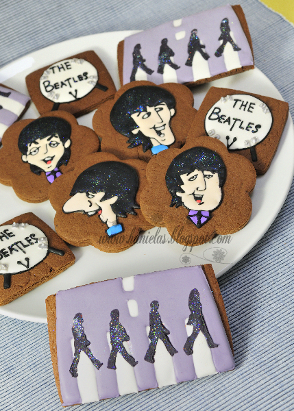 The Beatles Cookies Take the Stage