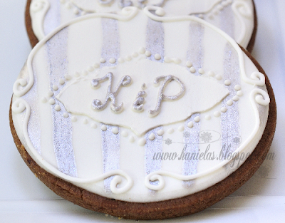 Monogrammed Engagement Cookies