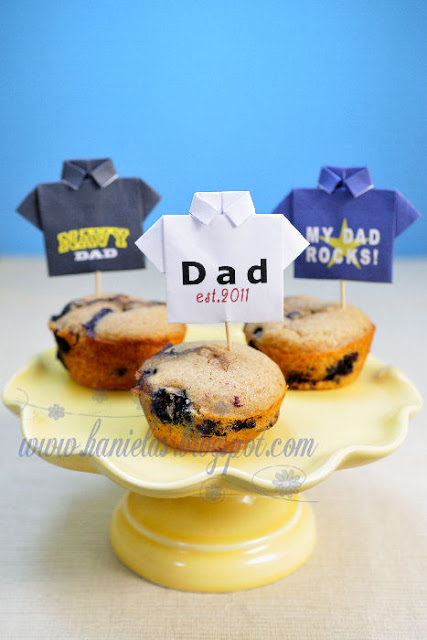 Templates for Father's Day Origami T-shirts