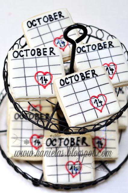 Bridal Shower Calendar Cookies
