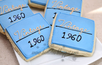 Classy Cookies for 50th Birthday