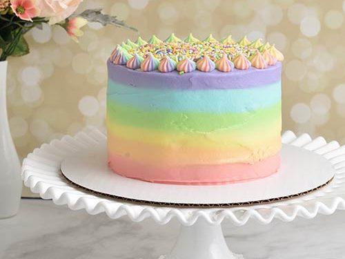 Superb Pastel Rainbow Birthday Cake Hanielas Recipes Cookie Cake Personalised Birthday Cards Epsylily Jamesorg