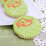 ~Coral, Green and Ivory Birthday Cookies~