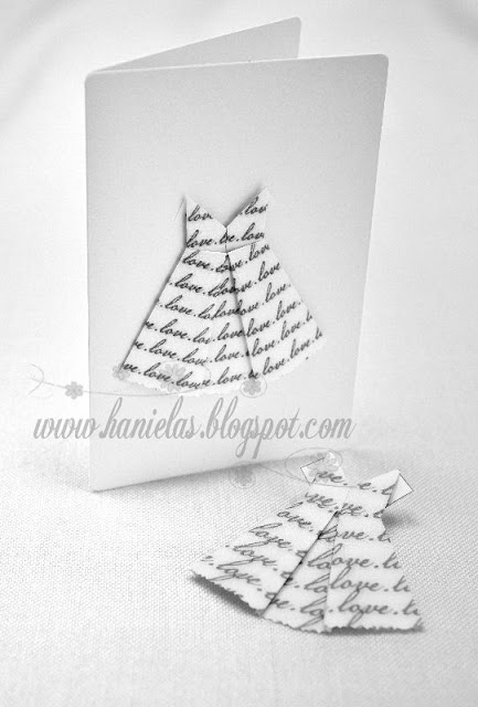 Pretty Origami Love Dress Card