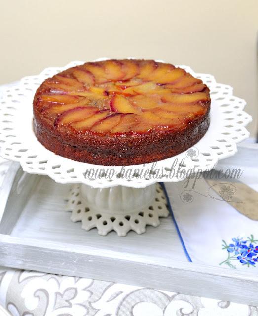 Upside Down Caramel Plum Cake