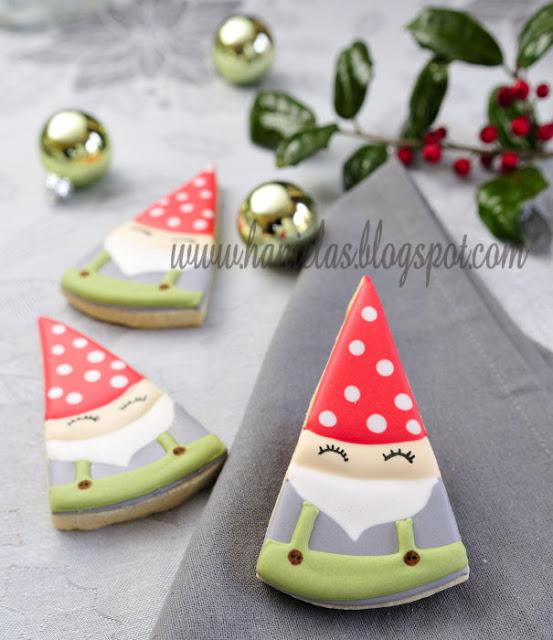 Sleeping Santa Cookies