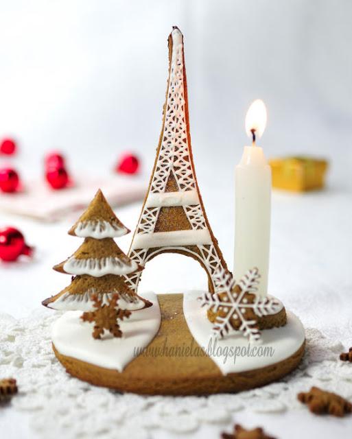 Eiffel Tower Gingerbread Centerpiece