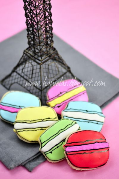 ~Decorated French Macaron Cookies ~