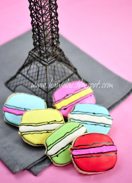 Decorated French Macaron Cookies