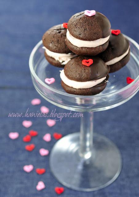 Chocolate Cherry Mini Whoopie Pies