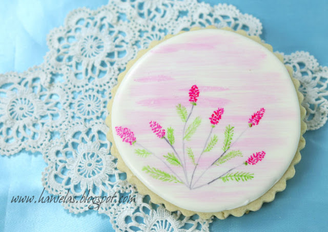 Pretty Painted Cookie