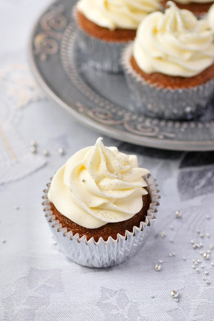 Gingerbread Cupcakes with Lemon Frosting