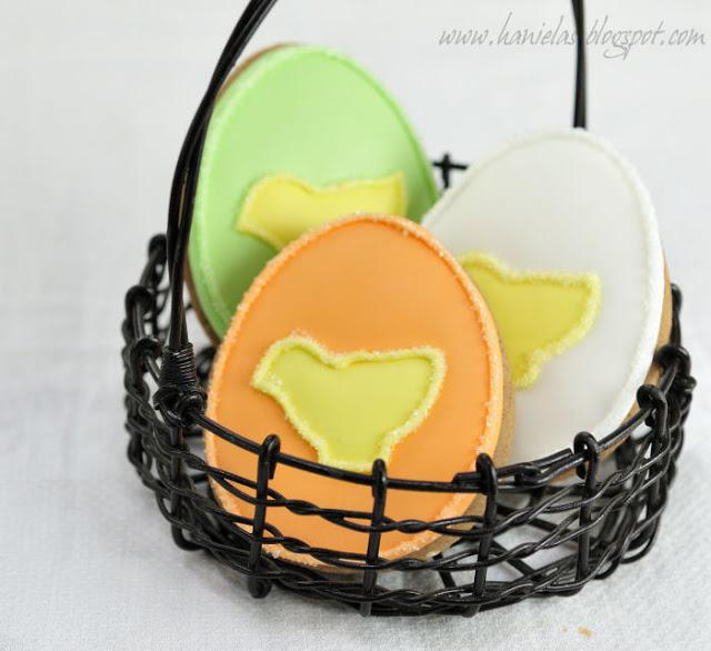 Cute Easter Egg Cookies