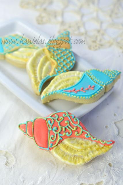Victorian Sea Shell Cookies