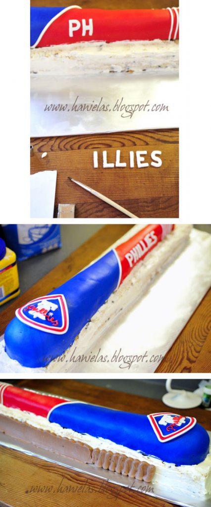 Philadelphia Phillies Baseball Bat Cake | Haniela's