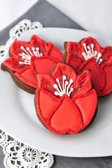 Pretty Tulip Cookies