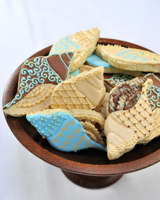 Bridal Shower Sea Shell Cookies