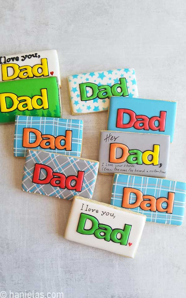 Simple Father's Day Cookies
