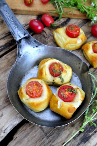 Soft Pretzel Tomato Bites