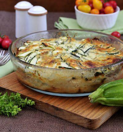Zucchini Potato Cheese Gratin
