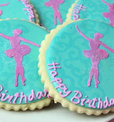 Ballerina Silhouette Cookies & How To Make a Stencil