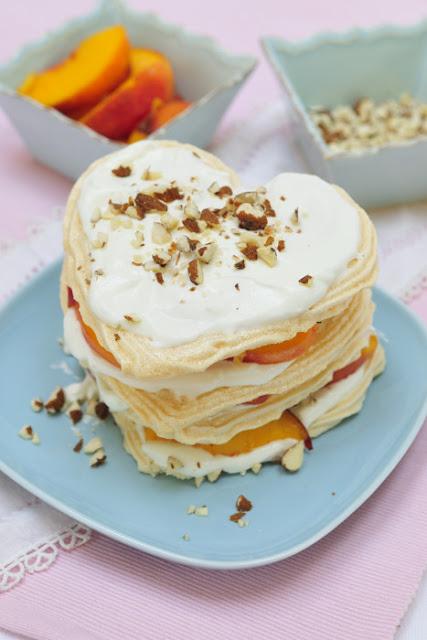 Peach Almond Meringue Cake