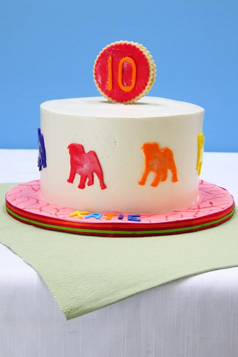 Fine Pop Art Pug Birthday Cake Hanielas Recipes Cookie Cake Funny Birthday Cards Online Bapapcheapnameinfo