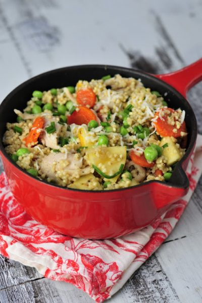 Chicken and Pea Millet Risotto and Why to Soak Grains