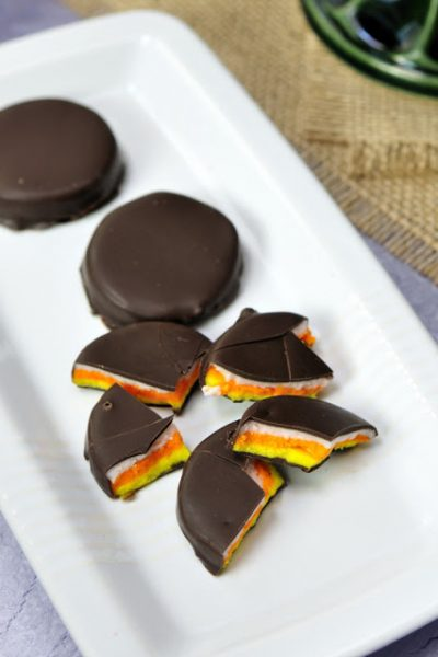 Candy Corn Peppermint Patties